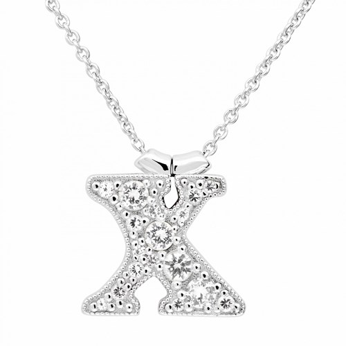 Petra Azar Initial X Necklace