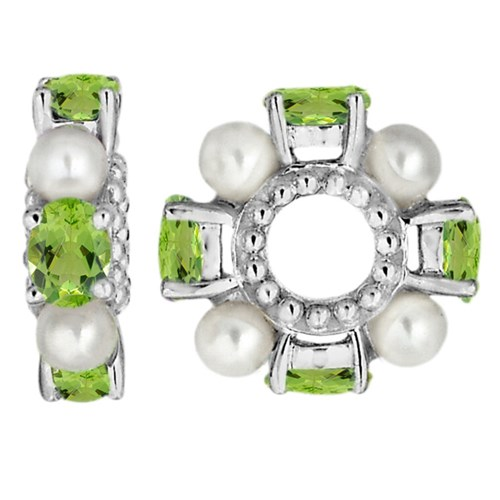 Storywheels Peridot & Pearl Wheel Charm