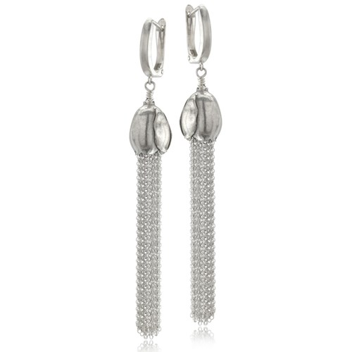 Silver Tassel Earrings 10803E