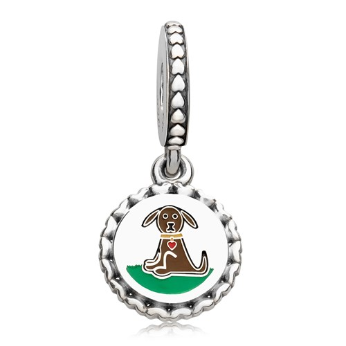 PANDORA Dog Stick Figure Dangle Charm