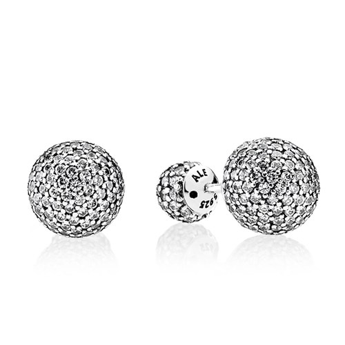 PANDORA Pavé Drops, Clear CZ Earrings