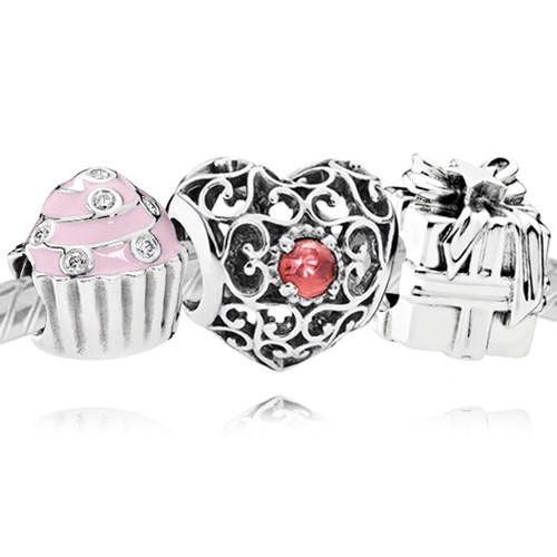 PANDORA Happy January Birthday Charm Set