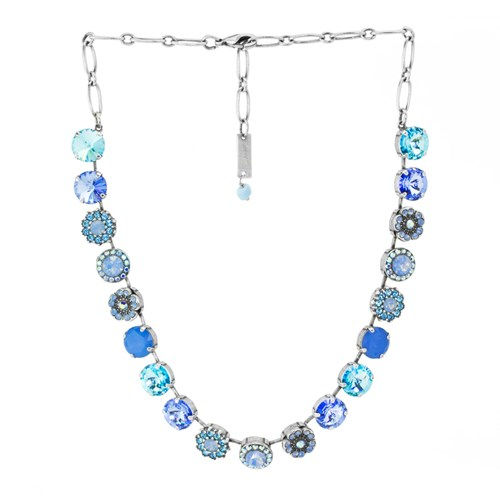 Mariana Light Blue Flower Necklace N-3084R1343-SP