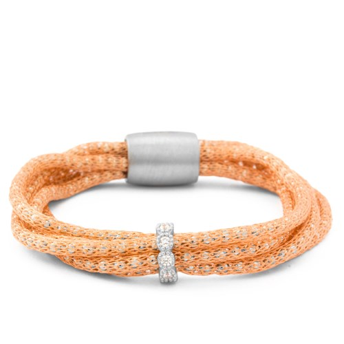 Luca Au Silk Fancy Weave Bracelet