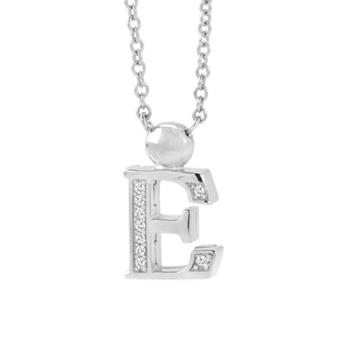 Petra Azar Mini Initial E Necklace