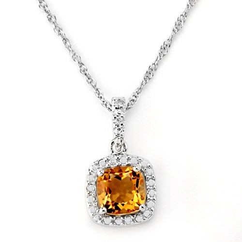 Citrine & White Topaz Necklace