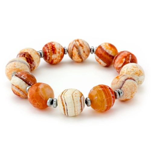 Stone Salutations Faceted Agate Bracelet
