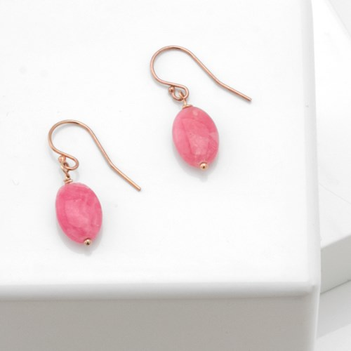 Impressionist Collection Rhodochrosite Earrings 10699E