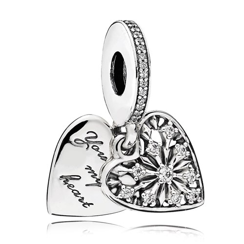 PANDORA Heart of Winter Dangle CZ Charm