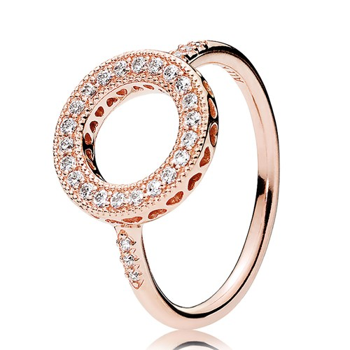 PANDORA Rose Gold Hearts of PANDORA Halo Ring