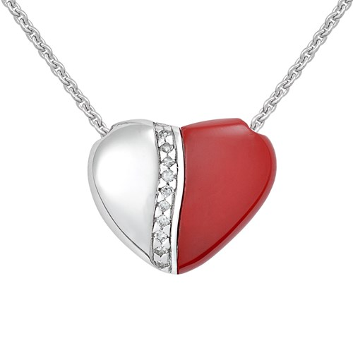 Petra Azar River of Love Red Necklace