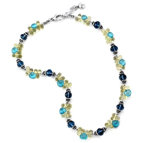 Elisa Ilana London Blue Topaz Necklace