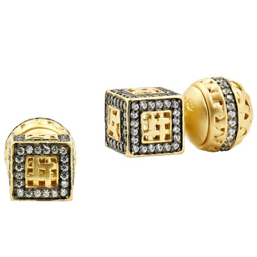Freida Rothman Lattice Motif Stud Earrings