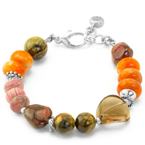 Impressionist Collection Carnelian & Quartz Bracelet 10850B