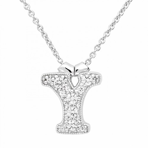 Petra Azar Initial Y Necklace