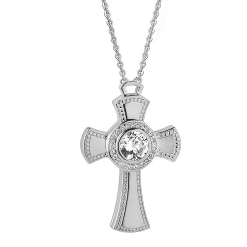 Petra Azar Credo Dazzling Cross Necklace
