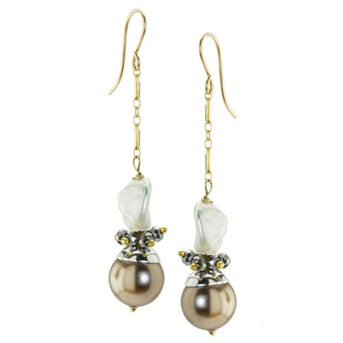 The Goddess Collection Pearl Cluster Earrings 10738E