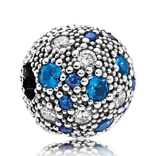 PANDORA Cosmic Stars, Multi-Colored Crystals & Clear CZ Clip