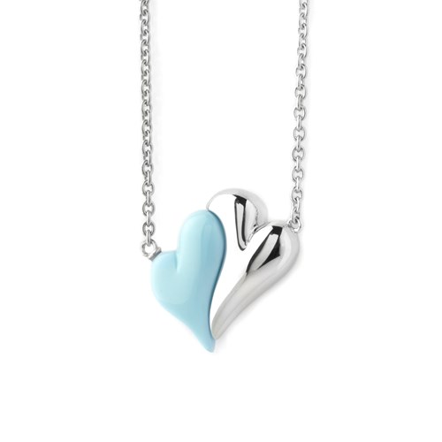 Petra Azar No Greater Love Blue Heart Necklace