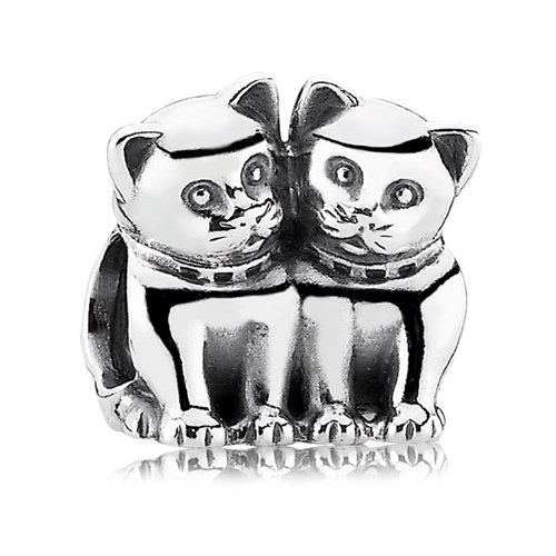 PANDORA Purrfect Together Cat Charm