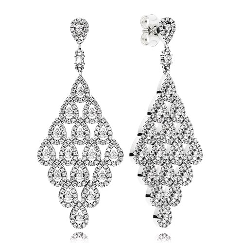 PANDORA Cascading Glamour CZ Statement Earrings