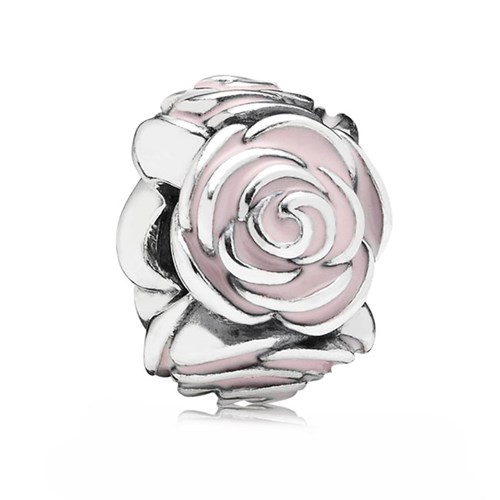 PANDORA Rose Garden with Pink Enamel Spacer Charm