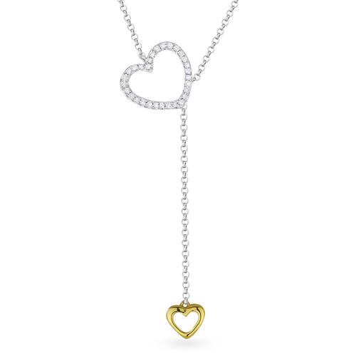 Diamond Heart 14K Lariat Necklace