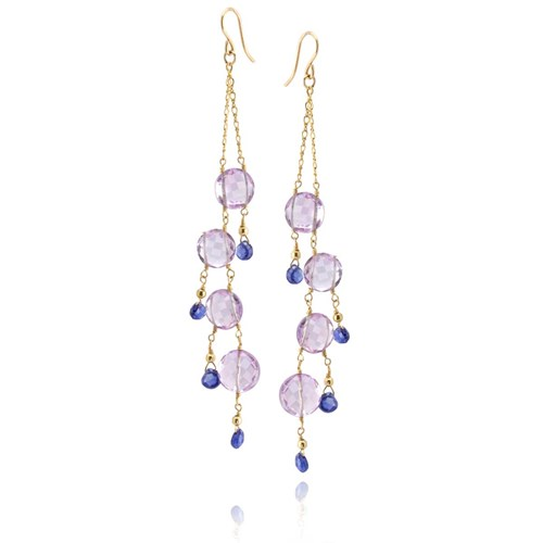 Amethyst & Tanzanite Earrings