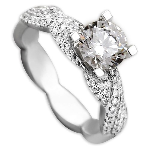 Hidalgo Diamond Ring with Double Twist Design