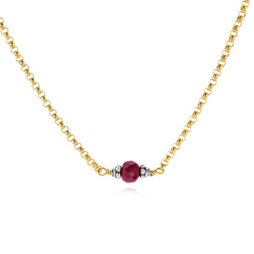 Elisa Ilana Ruby Petite Necklace