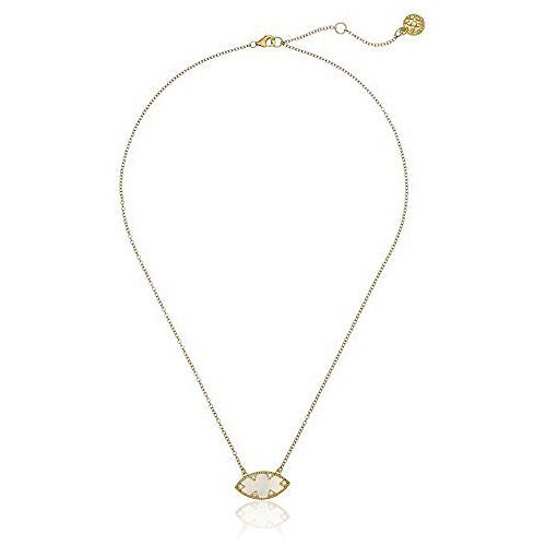 Freida Rothman Mother-of-Pearl & Sterling Silver Pendant Necklace Gold YZ070265B-MOP-16
