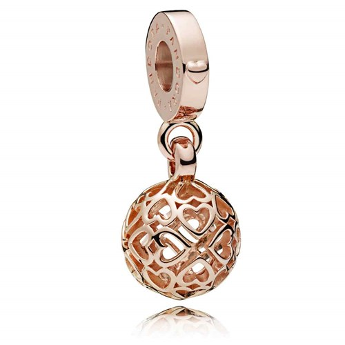PANDORA Rose™ Harmonious Hearts Dangle Charm 787255