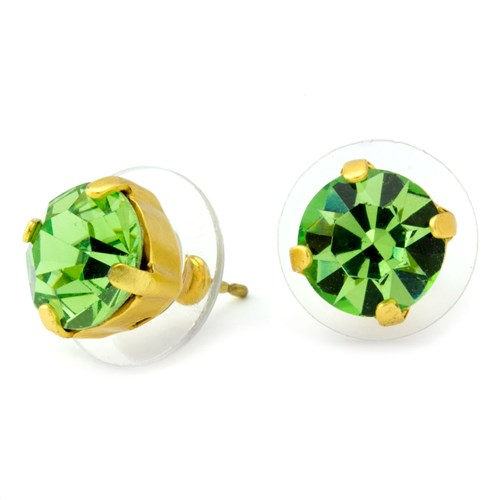 Mariana Green Stud Earrings Gold