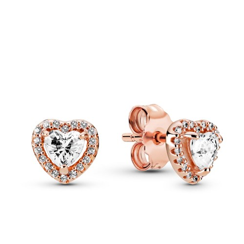 Pandora Rose™ Sparkling Elevated Heart Stud Earrings
