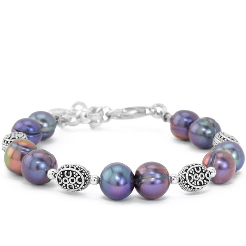 The Goddess Collection Peacock Pearl Bracelet