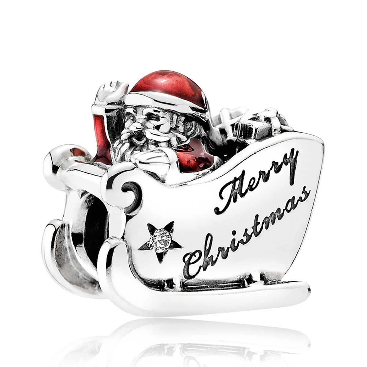 Pandora Letter To Santa With Red Enamel Charm