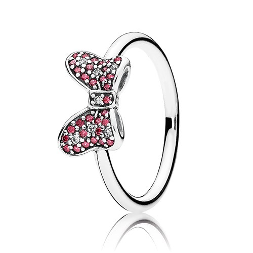 PANDORA Disney Minnie's Sparkling Bow with CZ Ring