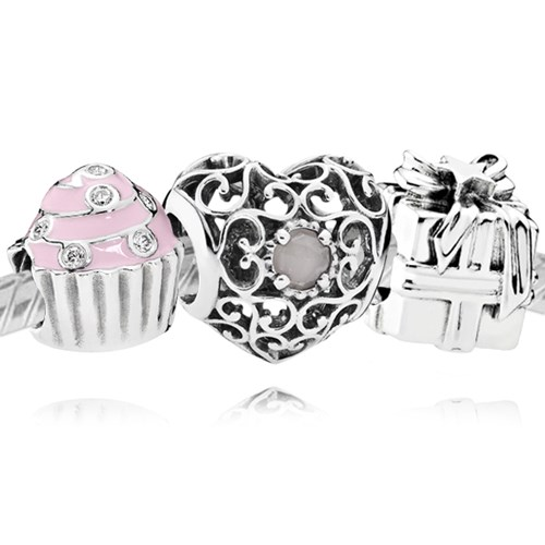 PANDORA Happy June Birthday Charm Set
