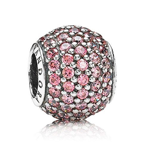 PANDORA Pavé Lights with Fancy Pink CZ Charm