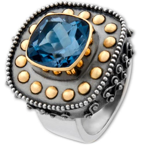 Kir Blue Topaz Ring