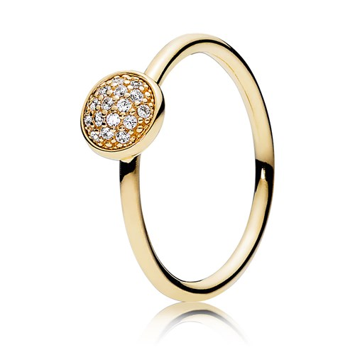 PANDORA 14K Dazzling Droplets with Clear CZ Ring