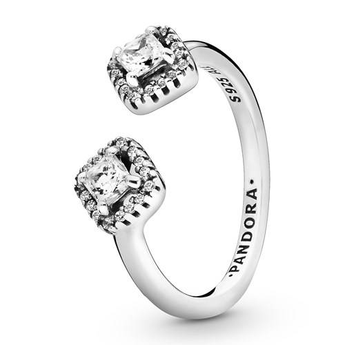 Pandora Square Sparkle Open Ring 198506C01