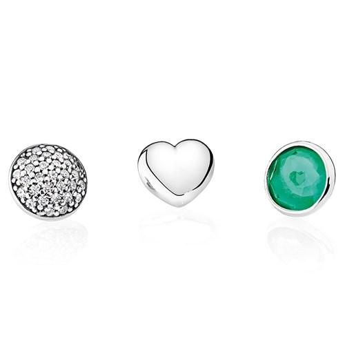 PANDORA May Petites, Royal-Green & Clear CZ