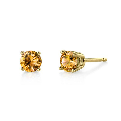 Citrine 5mm Earrings