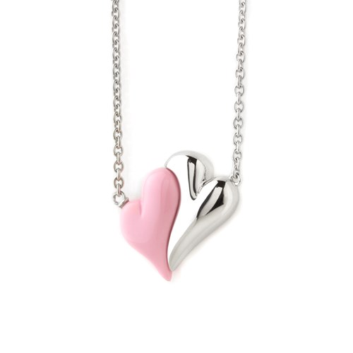 Petra Azar No Greater Love Pink Heart Necklace