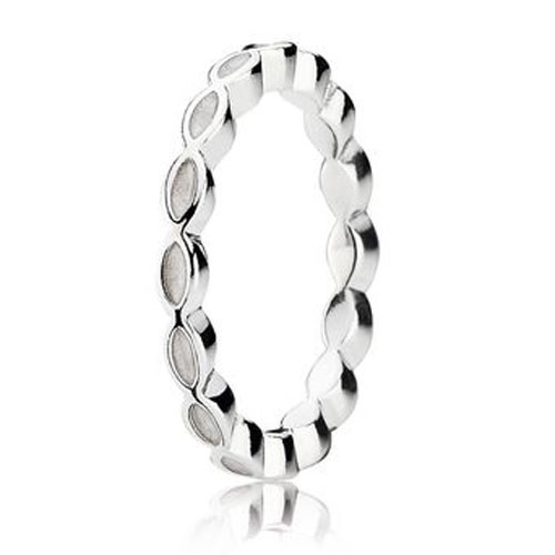 PANDORA Better Together with White Enamel Stackable Ring