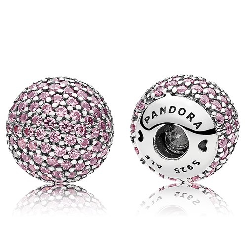 PANDORA Pavé Pink CZ Open Bangle Caps