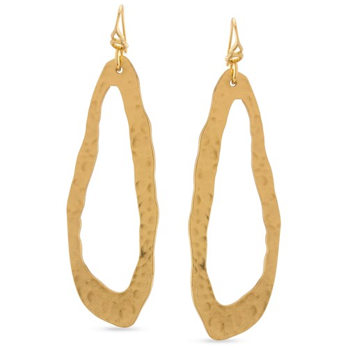 Abstract Gold Dangle Earrings 11202E