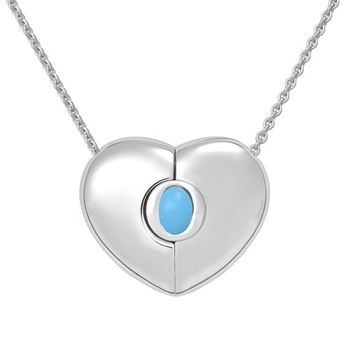Petra Azar December Heart Necklace