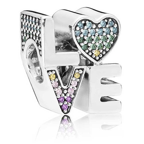 PANDORA Multi-Color Love Charm 797189NRPMX